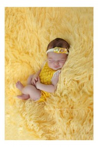 Furry blanket - yellow
